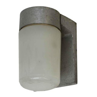Brushed Aluminum Industrial Single Arm Sconce