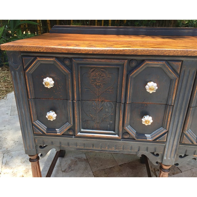 Vintage Jacobean Style Sideboard - Image 6 of 9