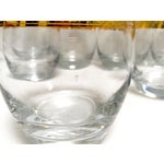 Image of Vintage Lowball Glasses With Gold Trim - Set of 8