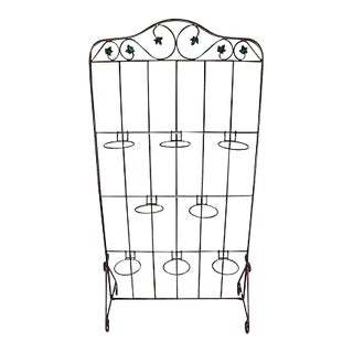 Wrought Iron Hanging Plant Screen