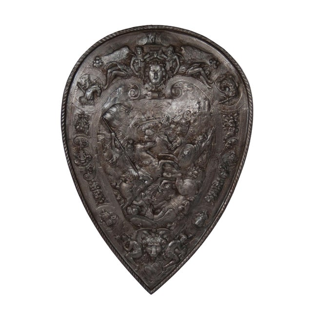 Antique Iron Decorative Shield - Image 1 of 5