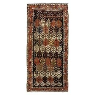 "Antique Sehna Kurd Gallery Carpet - 13'9"" x 6'5"""