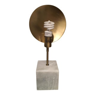 Modern Marble & Metal Directional Table Lamp