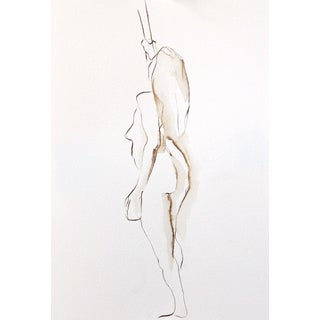 """Paine """"Standing Female Figure"""" Drawing"""