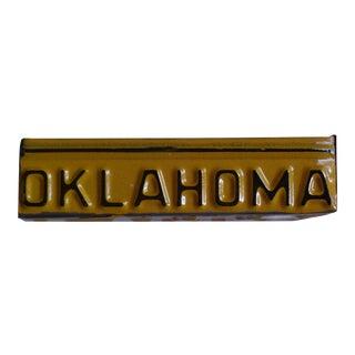 Vintage Oklahoma License Plate Repurposed as Box