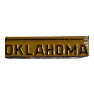 Vintage Repurposed Oklahoma Farm Truck License Plate Box