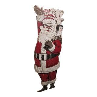 Wood Display Christmas Santa Claus