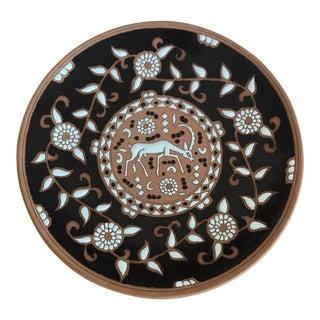 Vintage Handmade Pottery Wall Plate