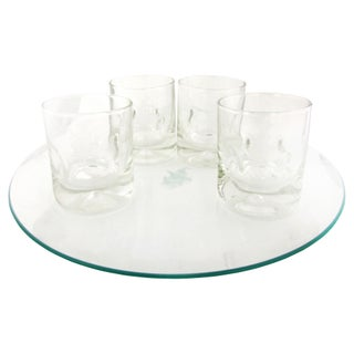 Pirate Ship-Etched Cocktail Set, Service for 4
