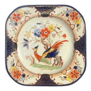 Antique English Ironstone Chinoiserie Serving Platter
