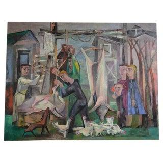Working Farm Acrylic Composition by Howard Mandel