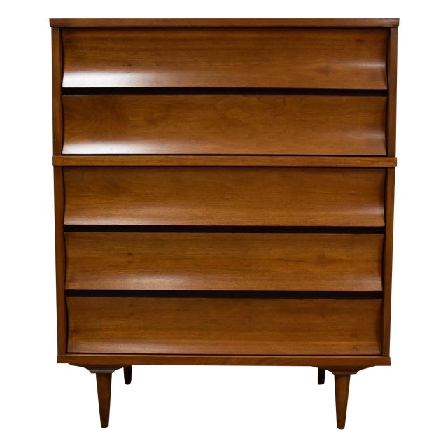 Johnson Carper Walnut and Formica Tall Dresser - Image 1 of 8