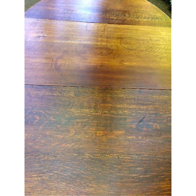 Image of Antique Oak Drop Leaf Table