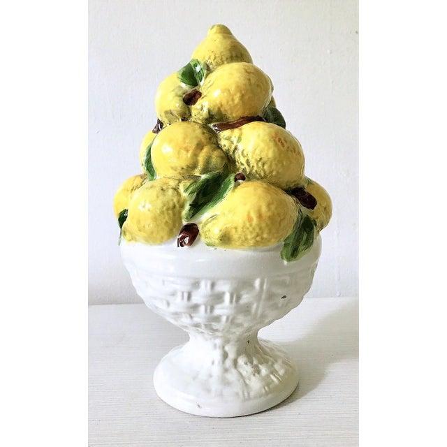 Mid Century Italian Majolica Lemon Topiary - Image 2 of 11