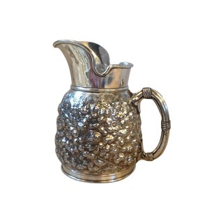 1880s Reed And Barton Floral Pitcher