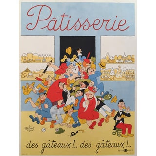 Vintage French Pastry Poster