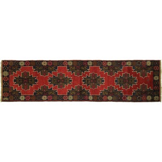 "Red & Navy Baluch Persian Rug - 2'7"" x 9'7"""