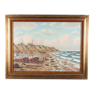 Danish Oil Painting 'Skagen Coast'