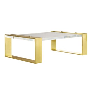 Modern History Home Plexi Slab Cocktail Table