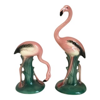 Mid Century Flamingo Statues by Will George - a Pair
