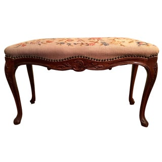 Louis XV Style Needlepoint Bench