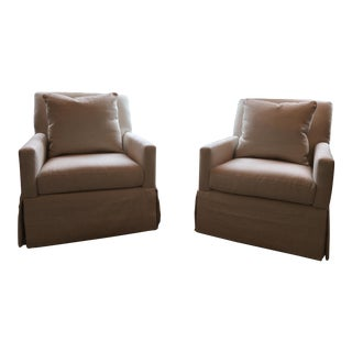 Serena & Lily Custom Upholstered Chairs - A Pair