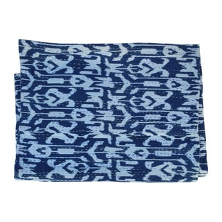 Vintage Ikat Kantha Quilt Throw