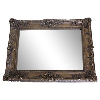 Hand Painted Burnished Gold Traditional Mirror