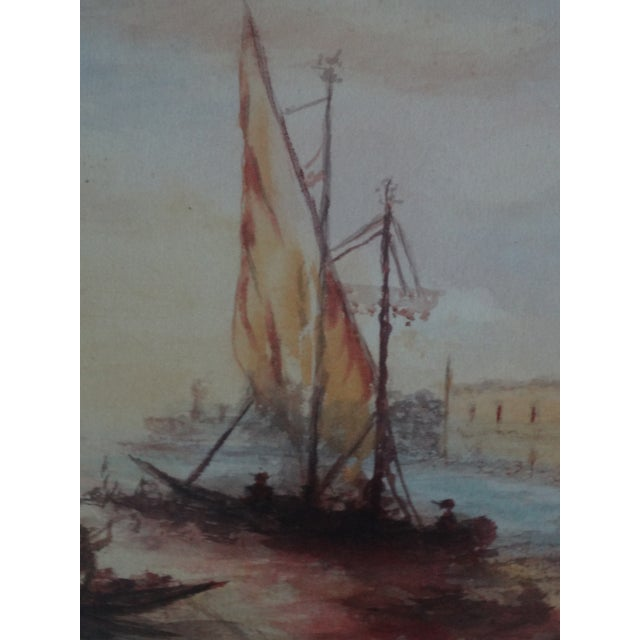 Impressionism Seascape Painting, the Grand Canal, Venice - Image 5 of 6