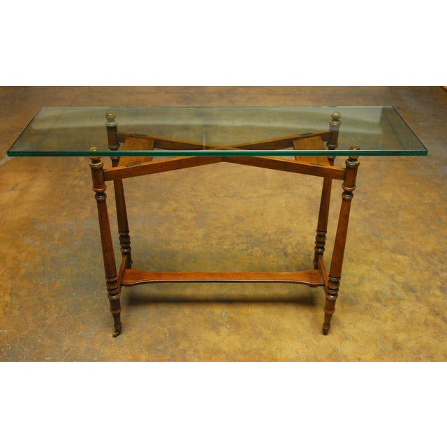 Henredon Glass Top Console - Image 4 of 7