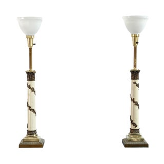 Set of Hollywood Regency Lamps - A Pair
