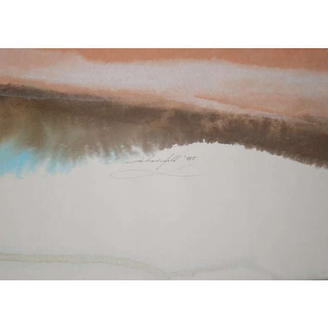 Large Watercolor Painting - Image 2 of 3