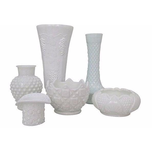 Milk Glass Bowls & Vases- Set of 6 - Image 1 of 6