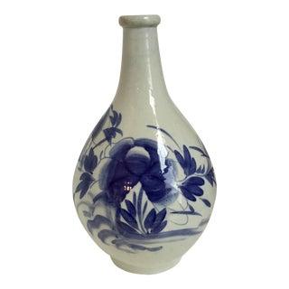 Blue & White Chinoiserie Onion Vase