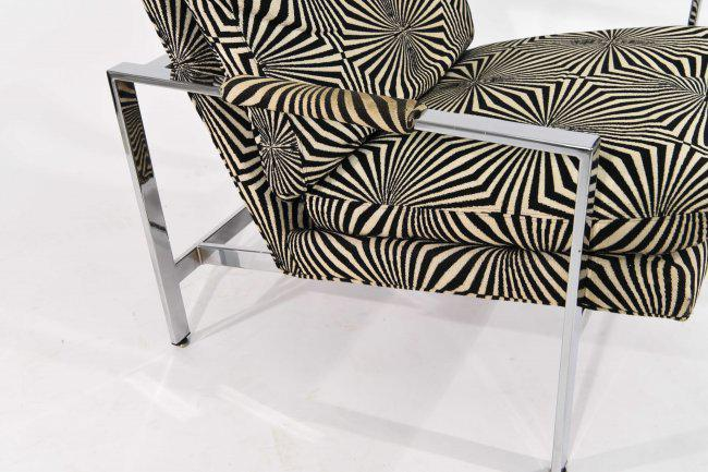 Milo Baughman For Thayer Coggin Lounge Chair With Verner Panton Fabric    Image 5 Of 9