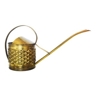 Vintage Brass Cactus Watering Can