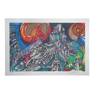 "Pencil Signed Ltd. Ed. Digital Print From ""The Cosmic Suite""-Artist's Proof-S. Nedelman"