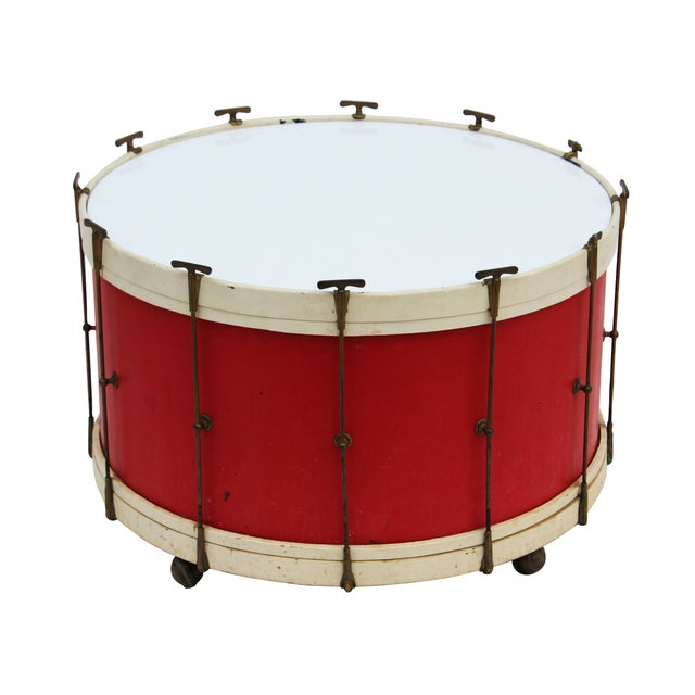 Round Drum Table on Casters - Image 1 of 6
