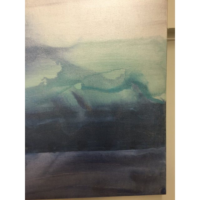 """""""Fiona"""" Original Painting in Blues - Image 4 of 6"""
