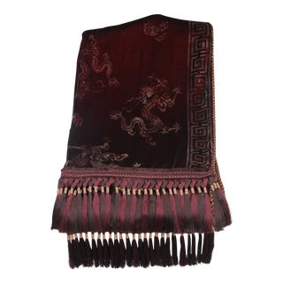 Custom Merlot Colored & Stenciled Throw