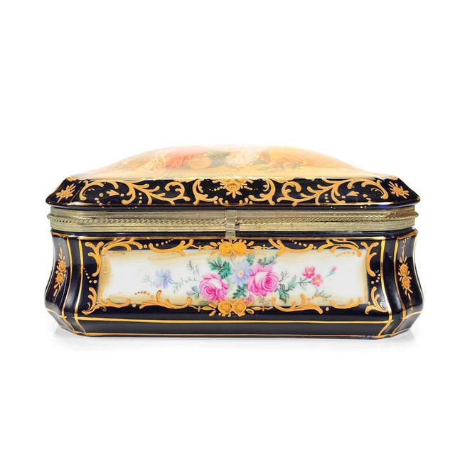 German Painted Porcelain Jewelry Box - Image 2 of 10