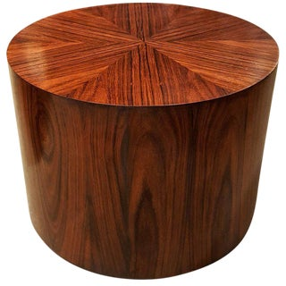 Rosewood Drum Side Table