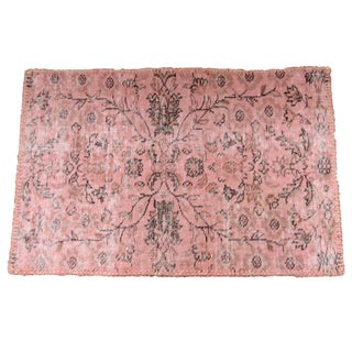 "Overdyed Light Pink Turkish Rug - 3'0"" x 2'0"""
