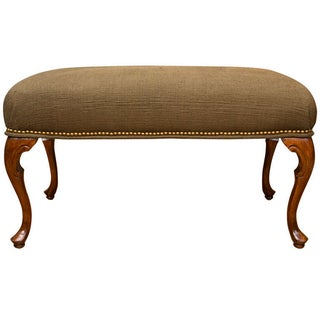 Antique French-Style Walnut Bench
