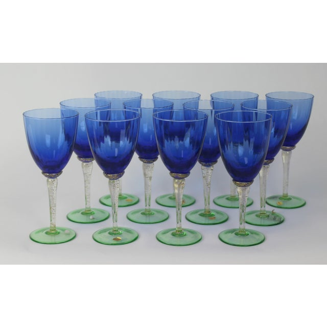 Venetian Glass Wine Goblets - Set of 12 - Image 2 of 6