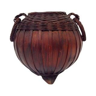 Meiji-Taisho Period Ikebana Bamboo Basket