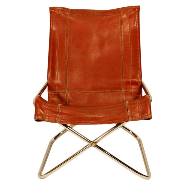 Suekichi Uchida Leather Sling Chair Chairish