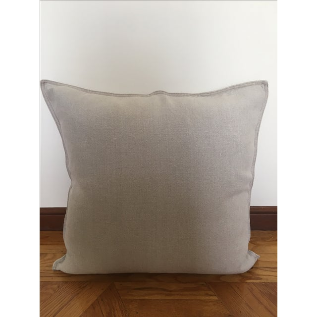 Throw Pillows Rust : Restoration Hardware French Linen Throw Pillow Chairish