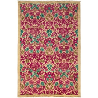 "Arts & Crafts Hand Knotted Area Rug - 4'10"" X 7'4"""