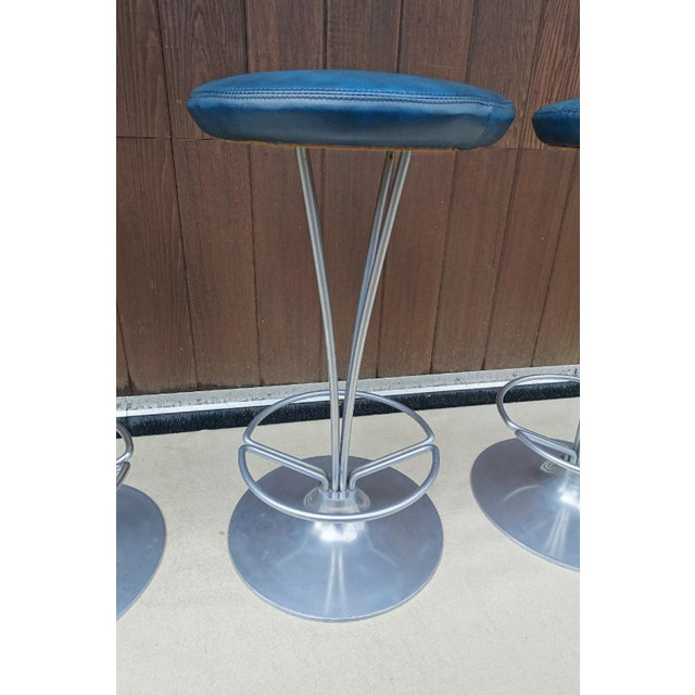 Image of Fritz Hansen Model 7112 Bar Stools - Set of 3